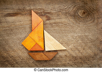 sailing yacht abstract - abstract picture of a sailing yacht...