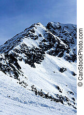 Mountains peak - Mountain peak covered in snow at winter