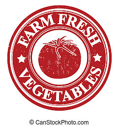Tomato stamp - Tomato vegetable grunge rubber stamp or label...