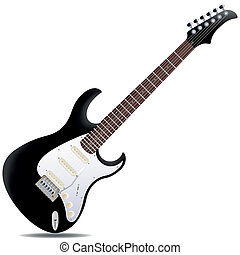 Electric guitar - The black semi-hollow electric guitar...