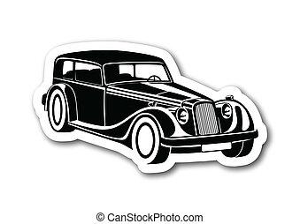 Black sport classic auto over paper