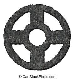 Cross. Stone pattern.