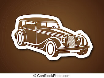 Brown sport classic auto on paper