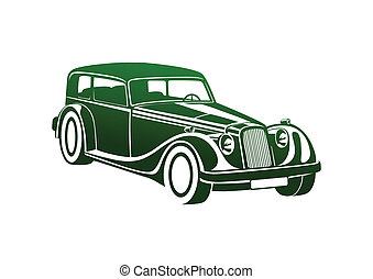 Green sport classic automobile