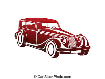 Red sport classic automobile