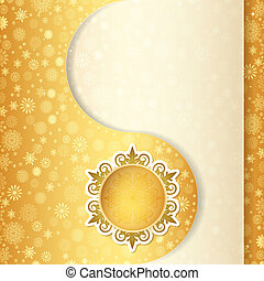 Christmas gift card, snowflake design background