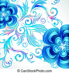 Decoration floral vector background.