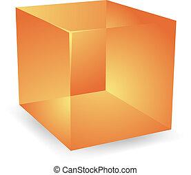 3d Translucent cubes