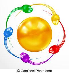 concepto, colorido, aislado, esperma, Plano de fondo,...