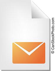 Envelope document icon