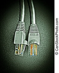 Two Lan cables