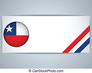 Chile Country Set of Banners