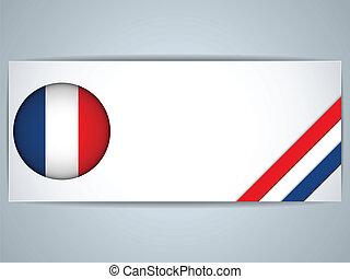 フランス, 国, セット, 旗