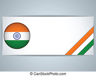 India Country Set of Banners