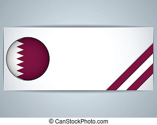 Qatar Country Set of Banners - Vector - Qatar Country Set of...