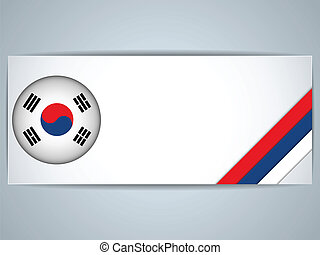 South Korea Country Set of Banners