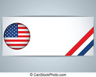 United States Country Set of Banners