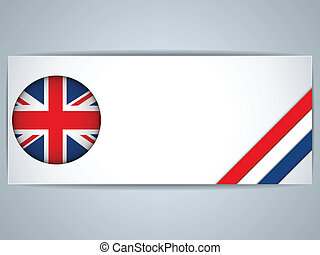 United Kingdom Country Set of Banners