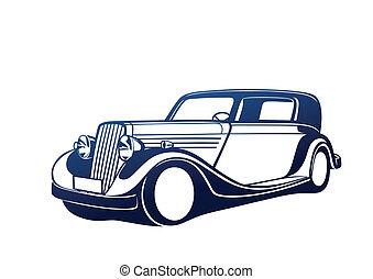 Blue classic auto
