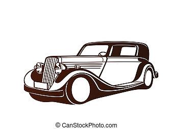 Brown classic auto