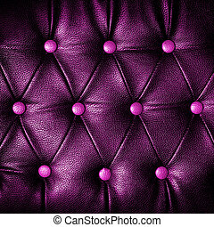 abstract Square violet Leather against dots background