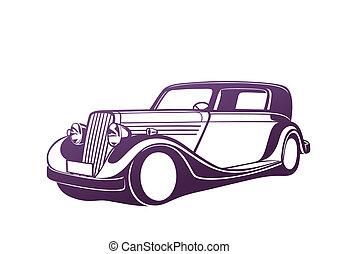 Purple classic auto
