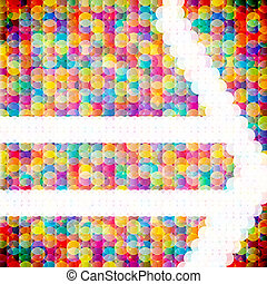 Abstract mosaic background made of colorful circles Vector...