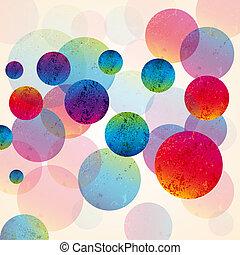 abstract design tech circles background vector