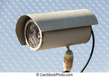 Security camera  - Old security camera on the fence