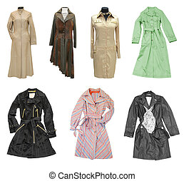fashion coats - fashion objects; woman dress coat isolated...