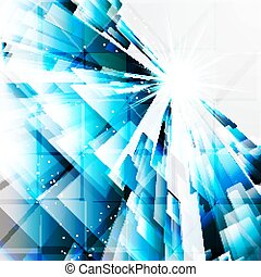 abstract turquoise design elements on a light background