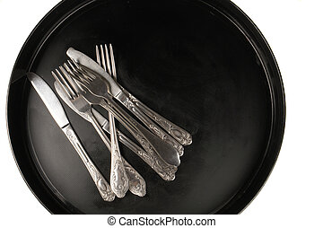 dishware, - dishware n a black background...