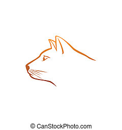 Orange cat head logo