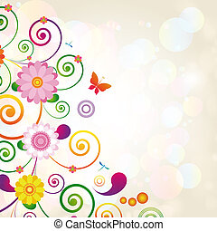 Gift card Floral design background
