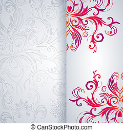 Abstract vector background with floral item