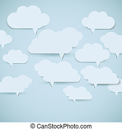 Eps10 cloud background Abstract speech bubbles Vector...