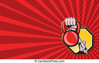 Physical Fitness Training Lifting Kettlebell