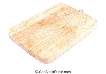 Cutting board on isolated white background