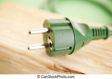 Green power - Green energy concept green energy plug on the...