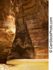 Wadi Mujib is canyon and national park located in area of...
