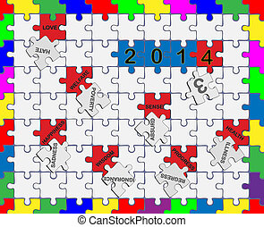 Jigsaw drop-down puzzle 2013- 2014 - Wishful Thinking 3 - 3...