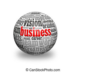 business 3d sphere