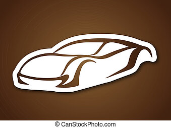 Brown logo of auto over brown