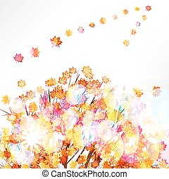 Autumn leaves design background.