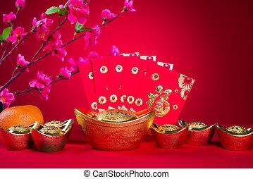 cinese, nuovo, anno, Decorazioni, generico, cinese,...