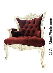Luxury chair - Luxury red chair on white background Clipping...