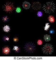 fireworks - Fireworks Against a Black Sky.