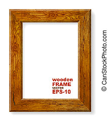 Background with oak frame
