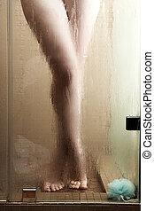 여자, 샤워