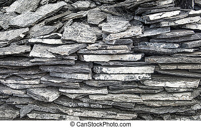 Slate stone wall background texture